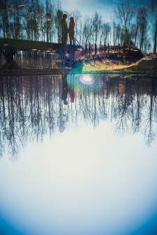 Triad-Engagement-Water-Reflection-Portrait