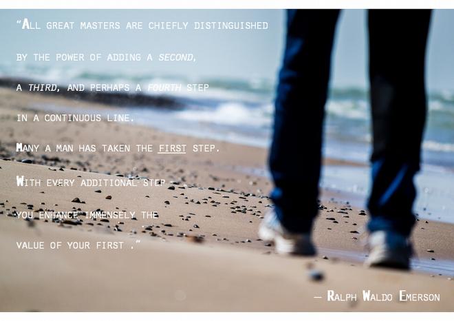 Ralph Waldo Emerson Masters Taking Steps